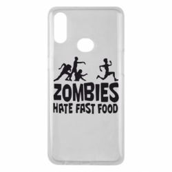 Чохол для Samsung A10s Zombies hate fast food