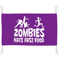 Прапор Zombies hate fast food