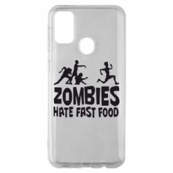 Чохол для Samsung M30s Zombies hate fast food