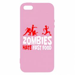 Чохол для iphone 5/5S/SE Zombies hate fast food