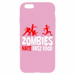 Чохол для iPhone 6/6S Zombies hate fast food