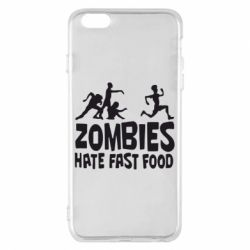 Чохол для iPhone 6 Plus/6S Plus Zombies hate fast food