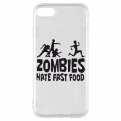 Чехол для iPhone 7 Zombies hate fast food - FatLine