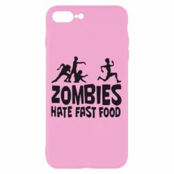 Чехол для iPhone 7 Plus Zombies hate fast food - FatLine
