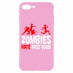 Чохол для iPhone 8 Plus Zombies hate fast food