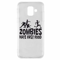 Чохол для Samsung A6 2018 Zombies hate fast food