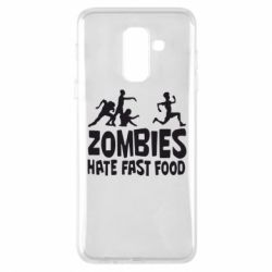 Чохол для Samsung A6+ 2018 Zombies hate fast food