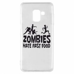 Чохол для Samsung A8 2018 Zombies hate fast food