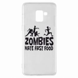 Чехол для Samsung A8+ 2018 Zombies hate fast food - FatLine