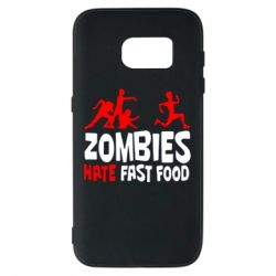 Чохол для Samsung S7 Zombies hate fast food
