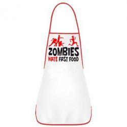 Фартук Zombies hate fast food