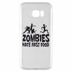 Чохол для Samsung S7 EDGE Zombies hate fast food