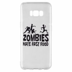 Чехол для Samsung S8+ Zombies hate fast food - FatLine