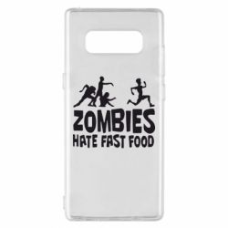 Чохол для Samsung Note 8 Zombies hate fast food