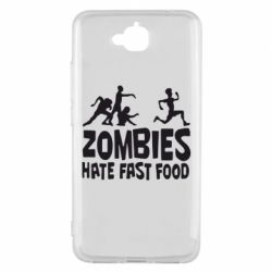 Чехол для Huawei Y6 Pro Zombies hate fast food - FatLine
