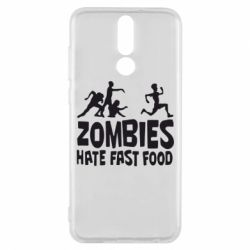 Чехол для Huawei Mate 10 Lite Zombies hate fast food - FatLine
