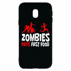 Чохол для Samsung J3 2017 Zombies hate fast food