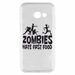 Чехол для Samsung A3 2017 Zombies hate fast food - FatLine