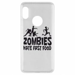 Чехол для Xiaomi Redmi Note 5 Zombies hate fast food - FatLine