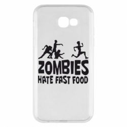 Чохол для Samsung A7 2017 Zombies hate fast food