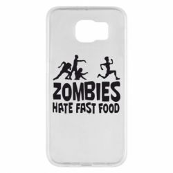 Чохол для Samsung S6 Zombies hate fast food