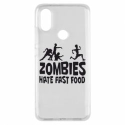 Чохол для Xiaomi Mi A2 Zombies hate fast food