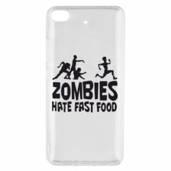 Чехол для Xiaomi Mi 5s Zombies hate fast food - FatLine