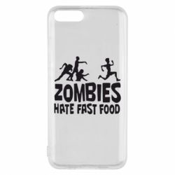 Чехол для Xiaomi Mi6 Zombies hate fast food - FatLine
