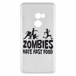 Чехол для Xiaomi Mi Mix 2 Zombies hate fast food - FatLine