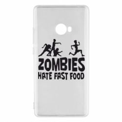 Чехол для Xiaomi Mi Note 2 Zombies hate fast food - FatLine
