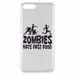 Чехол для Xiaomi Mi Note 3 Zombies hate fast food - FatLine