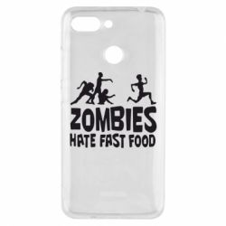 Чехол для Xiaomi Redmi 6 Zombies hate fast food - FatLine