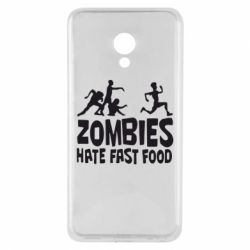 Чехол для Meizu M5 Zombies hate fast food - FatLine