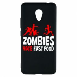 Чехол для Meizu M5c Zombies hate fast food - FatLine