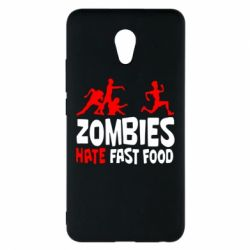 Чехол для Meizu M5 Note Zombies hate fast food - FatLine