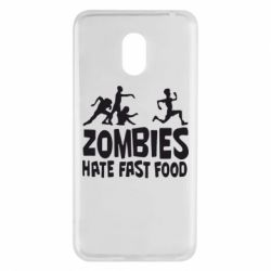 Чехол для Meizu M6 Zombies hate fast food - FatLine