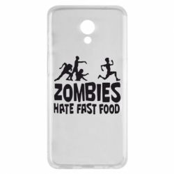 Чехол для Meizu M6s Zombies hate fast food - FatLine