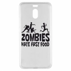 Чехол для Meizu M6 Note Zombies hate fast food - FatLine