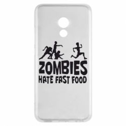 Чехол для Meizu Pro 6 Zombies hate fast food - FatLine
