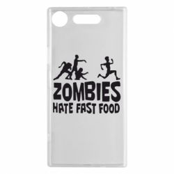 Чехол для Sony Xperia XZ1 Zombies hate fast food - FatLine