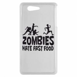 Чехол для Sony Xperia Z3 mini Zombies hate fast food - FatLine
