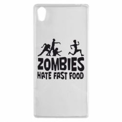 Чехол для Sony Xperia Z5 Zombies hate fast food - FatLine