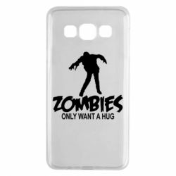Чехол для Samsung A3 2015 Zombies only want a hug