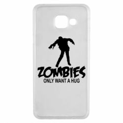 Чехол для Samsung A3 2016 Zombies only want a hug