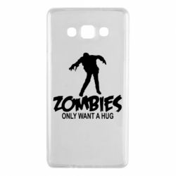 Чехол для Samsung A7 2015 Zombies only want a hug