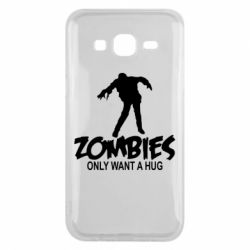 Чехол для Samsung J5 2015 Zombies only want a hug