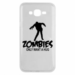 Чехол для Samsung J7 2015 Zombies only want a hug