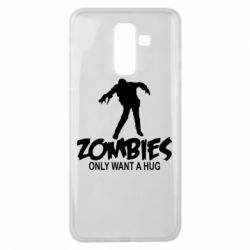Чехол для Samsung J8 2018 Zombies only want a hug
