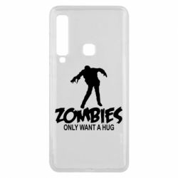 Чехол для Samsung A9 2018 Zombies only want a hug