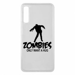Чехол для Samsung A7 2018 Zombies only want a hug